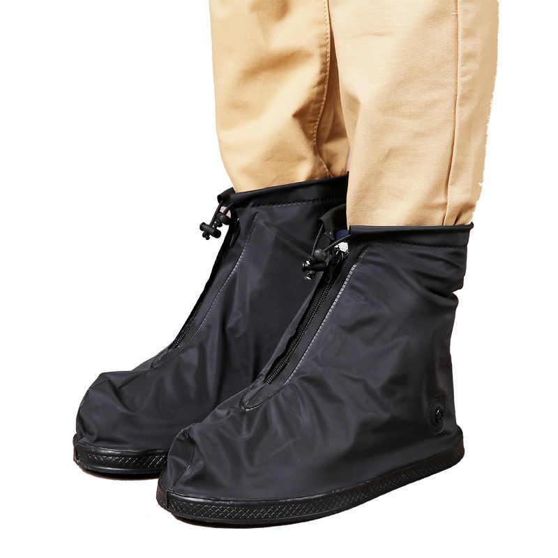 Femmes et hommes couvre-chaussures imperméables réutilisables imperméable à l'eau couverture de chaussure de pluie anti-dérapant couvre-chaussures protecteur imperméable à l'eau chaude