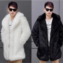S-6XL! новое осенне-зимнее пальто из искусственного лисьего меха с длинным рукавом, пальто из искусственного меха