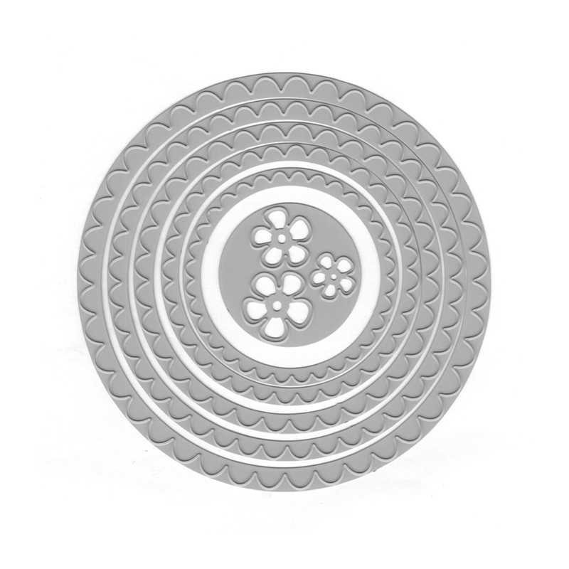 YaMinSanNiO Lace Circle Metal Cutting Dies Round Stencils Dies Scrapbooking Photo Album Decorative Embossing DIY Cards 2019 New in Cutting Dies from Home Garden