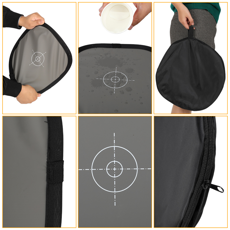 Купить с кэшбэком 12 Inch x 12 Inch (30 cmx 30 cm) White Balance 18% Gray Reference Reflector Grey Card with Carry Bag [Folded Version]