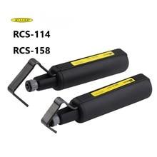 лучшая цена Fiber Optic tool fiber optic cable sheath slitting machine RCS-114 Miller round cable stripper RCS158 cable stripper