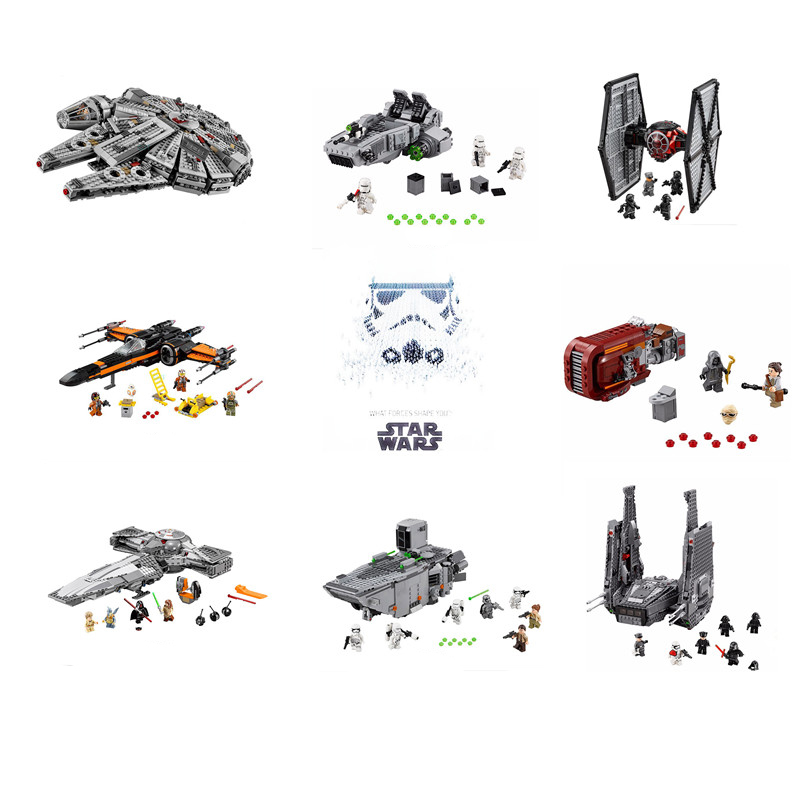 ФОТО star wars first order special forces tie fighter millennium falcon x-wing destroyer  building blocks toys minifigures