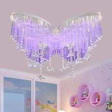 Childrenu0027s Lamp Butterfly LED Crystal Ceiling Lamps Bedroom Lamp Girl  Ceiling Lamp Color Ceiling Lights ZA622 ZL178