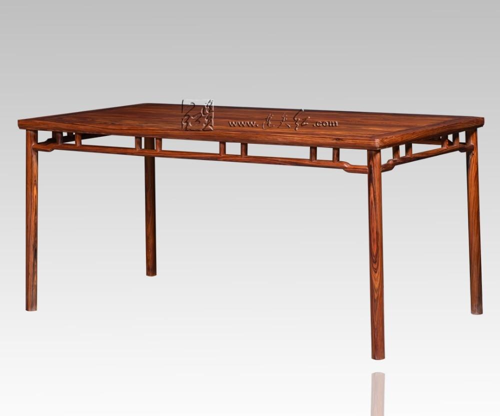 Rectangle table chinois néoclassique À manger bureau de la maison