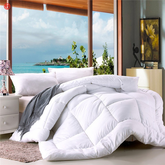 Home Textile Winter Comforter White King Size Quilt 220 240cm Queen