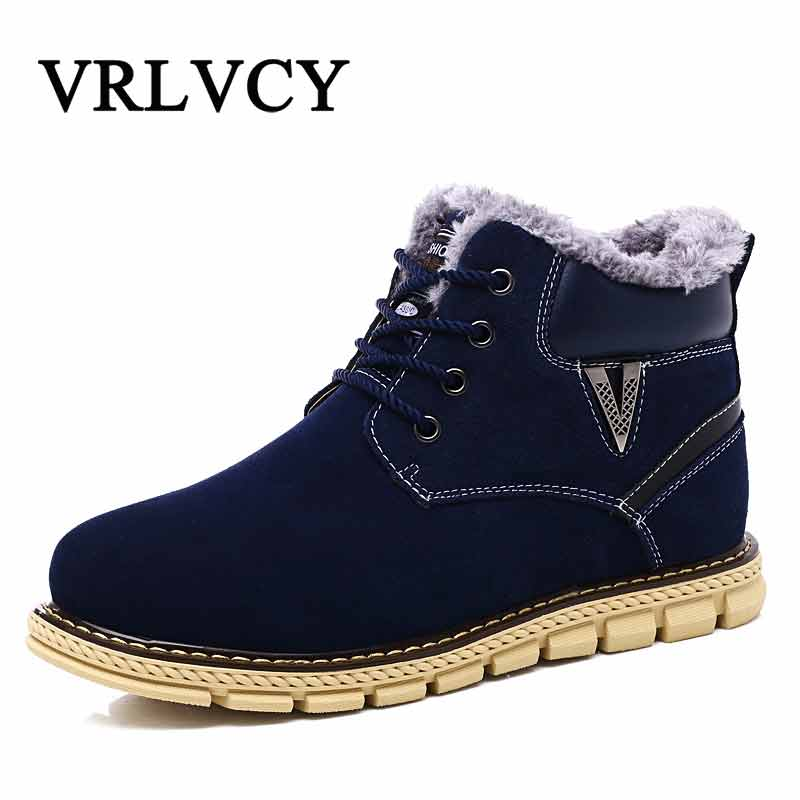 Brand Hot Newest Keep Warm Men Winter Boots High Quality Cow Suede Wear Resisting Casual Shoes Working Fahsion Men Boots