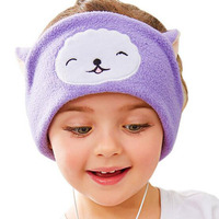 Cartoon Kids Girls Headband Headphones Stereo Headset Earphone Comfortable Soft Fleece Headband For Mobile Phone Mp3