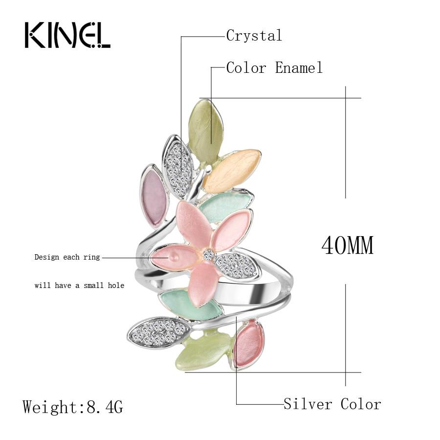 2017 Nye trendy flerfarvede emalje ringer til kvinder Crystal bryllup - Mode smykker - Foto 2