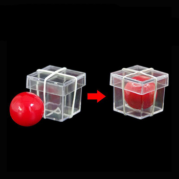 little Ball Penetrate Crystal Box magic tricks illusion props trucos de magia toy wholesale E3091 image