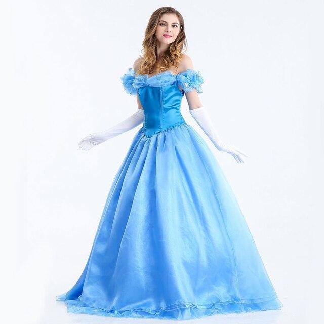 2019 Baru Dongeng Cinderella Yang Gaun Putri Cosplay Film