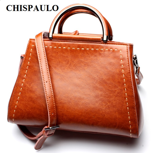 CHISPAULO 2017 Women Genuine Leather Handbags Tassel Women's Messenger Shoulder Bags Bolsa Femininas Famous Brand Tassel  C030