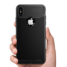 Get more info on the For iphone 11 pro max X XR XS Max case thin carbon fiber edge shockproof soft TPU case for iPhone 5 5s se & Iphone 6 6s 7 plus