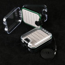 Maximumcatch 2 Pieces Fly Fishing Box Plastic Double Side Fly Box With Lanyard Fly Box