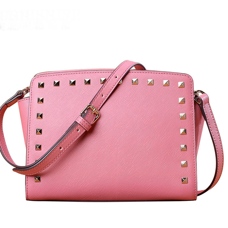 Cross section square cross stitch leather crossbody bags for women bag beautiful rivet string decoration women messenger bags кофеварка рожкового типа vitek vt 1524 gd