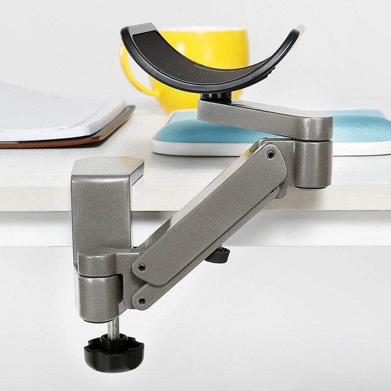 3D bureau repose-bras Support de poignet en métal réglable tapis de souris Spinner main Support épaule protéger jeu gamer jeu tapis de souris - 4