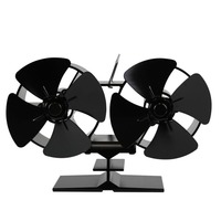 4 Blades Double Heat Powered Stove Fans F260 Fuel Energy Saving Stove Fan Eco Friendly Fan