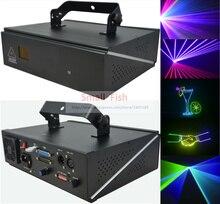 2 xLot продажа по Заводской Цене сценический лазерный свет 1 Вт RGB Полноцветный лучевой прожектор лазер с DMX ILDA портами и 128 анимированная графика