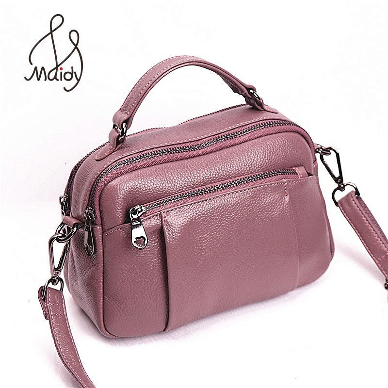 Casual Luxury Women The First Layer Cowhide Leather Handbags Clutch Crossbody Envelope Bags Satchel Messenger Shoulder