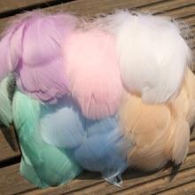 50 шт натуральные Разноцветные перья 5-10 см гусиные перья для плюмажа для свадебной шляпы аксессуары для волос домашнее ремесло DIYJewelry украшение