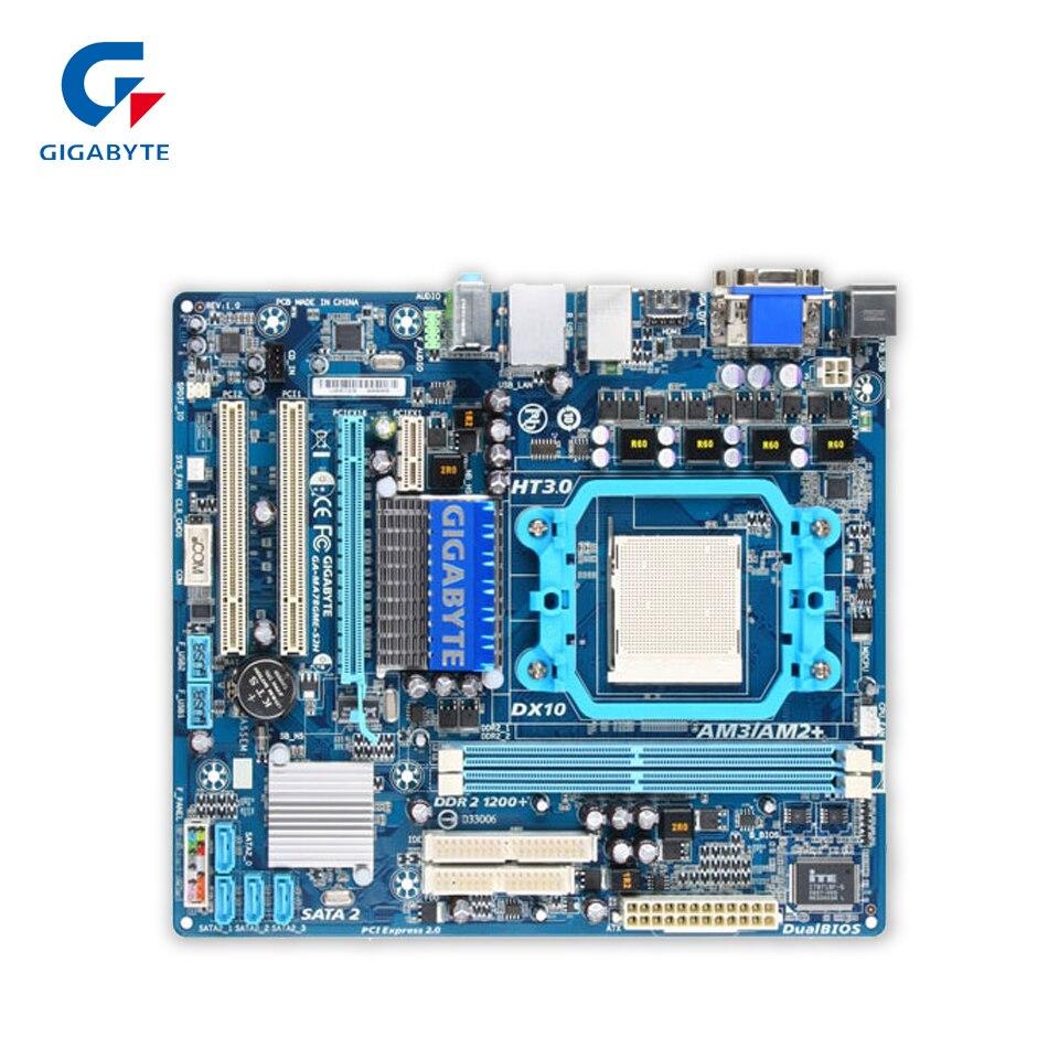Original Gigabyte GA-MA78GME-S2H Desktop Motherboard MA78GME-S2H 780G Socket AM2 DDR2 SATA2 USB2.0 Micro ATX