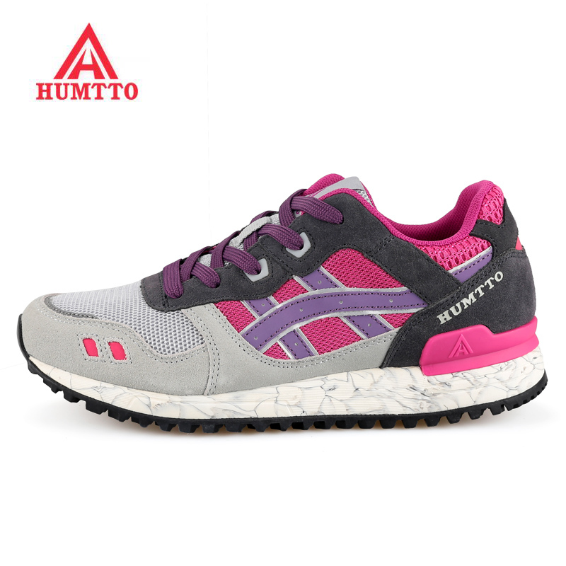 New Arrivels HUMTTO Womens Sports Trail Running Shoes Sneakers For Women Leather + Mesh Sport Jogging Shoes Sneaker Woman kelme 2016 new children sport running shoes football boots synthetic leather broken nail kids skid wearable shoes breathable 49