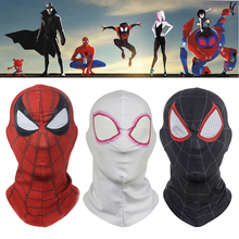Spider-Man: Into the Spider-Verse Mask Cosplay Gwen Stacy Peter Parker Miles Morales Masks Superhero Spiderman Helmet Party Prop