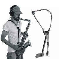 Accesorios ajustables de saxofón Alto Tenor cuello correa de hombro cinturón piezas musicales saxo correa o saxo arnés transferencias