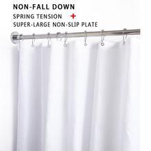 50 см весенний удар из нержавеющей стали, свободная душевая кабина, телескопическая штанга для ванной комнаты, кухонная занавеска, штанга