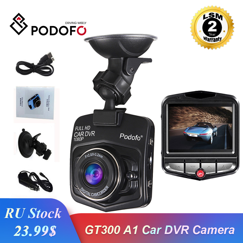Podofo Car DVR Camera Video-Recorder Registrator Dash-Cam Mini GT300 G-Sensor Night-Vision