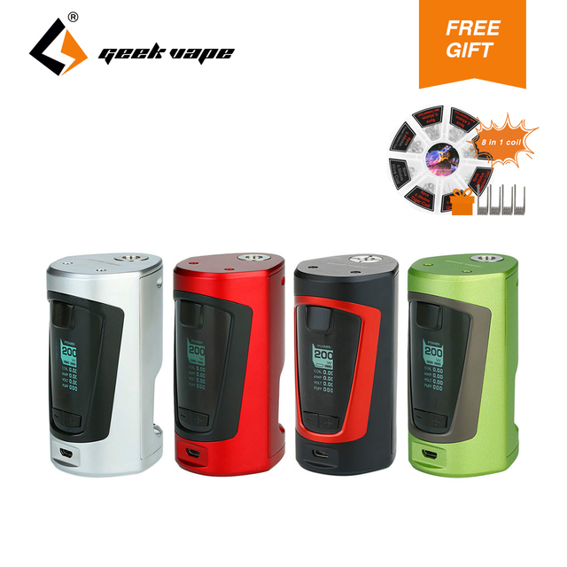 d959e8acb922 Original GeekVape GBOX Squonker Box MOD 200W with 8ml Squonk bottle 8 in 1  coil set (gift) No Battery E Cigs Vape Gbox MOD