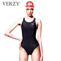 2016 New Female Athletes Swimsuits Backless Women Swimming One Piece Suit Competition Professional Black Blue Triangle