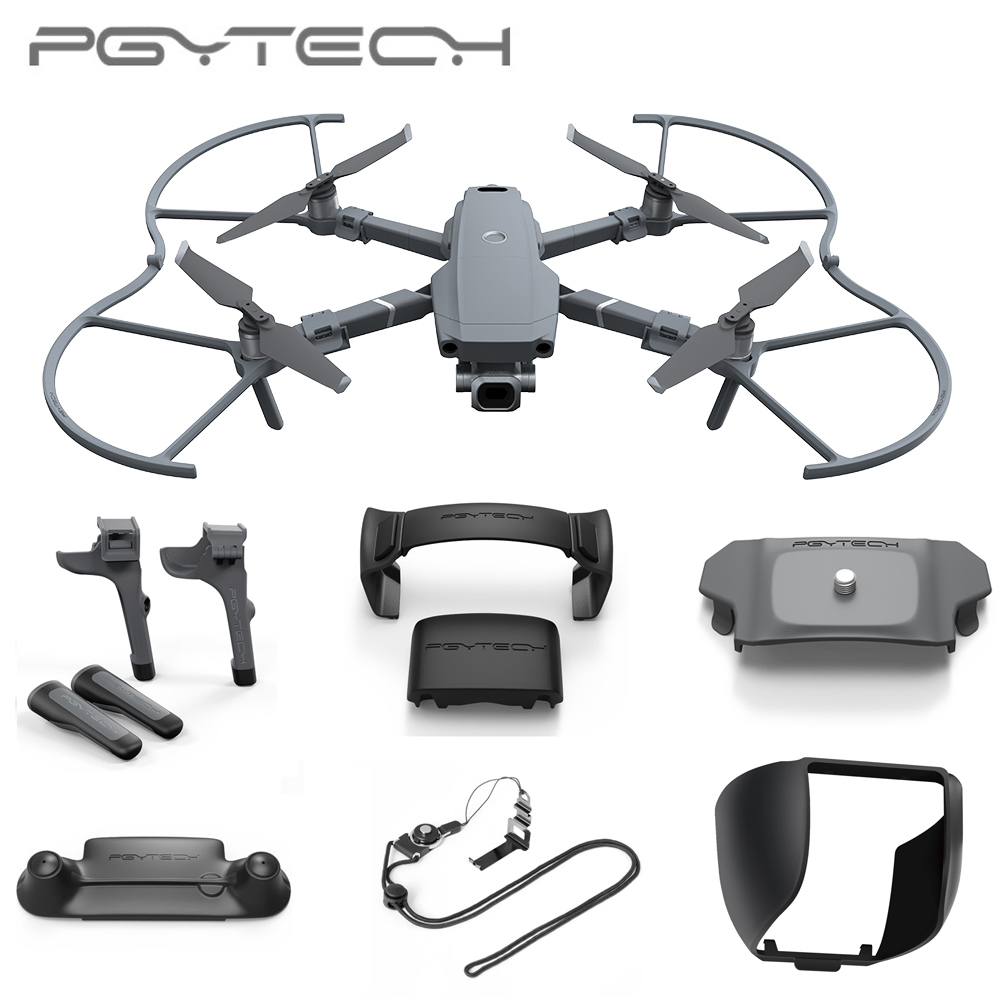 PGYTECH For DJI Mavic 2 Pro LED Landing Gear Extension Propellers Motor Holder Fixator Remote Control Guard Lens Hood