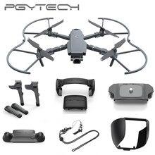 Pgytech, extensor de trem de pouso para dji mavic 2 pro, fixador e suporte para motor, controle remoto, lente de proteção