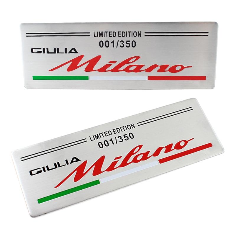 50pcs for ALFA ROMEO limited edition milan 001 Car Logo emblem Badge sticker for Mito 147 156 159 166 Free shipping