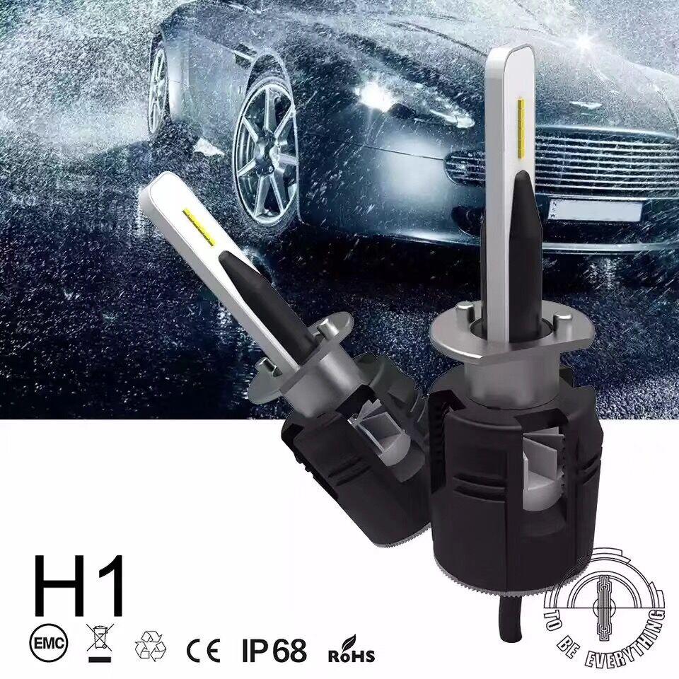 2x FYSZ H1 72W 16000LM LED Headlight Car Auto Vehicle Bulb Fog Lamp SUV Truck nighteye 72w 9000lm h1 car headlight kit fog bulb led lamp drl super white auto led 12v free shipping
