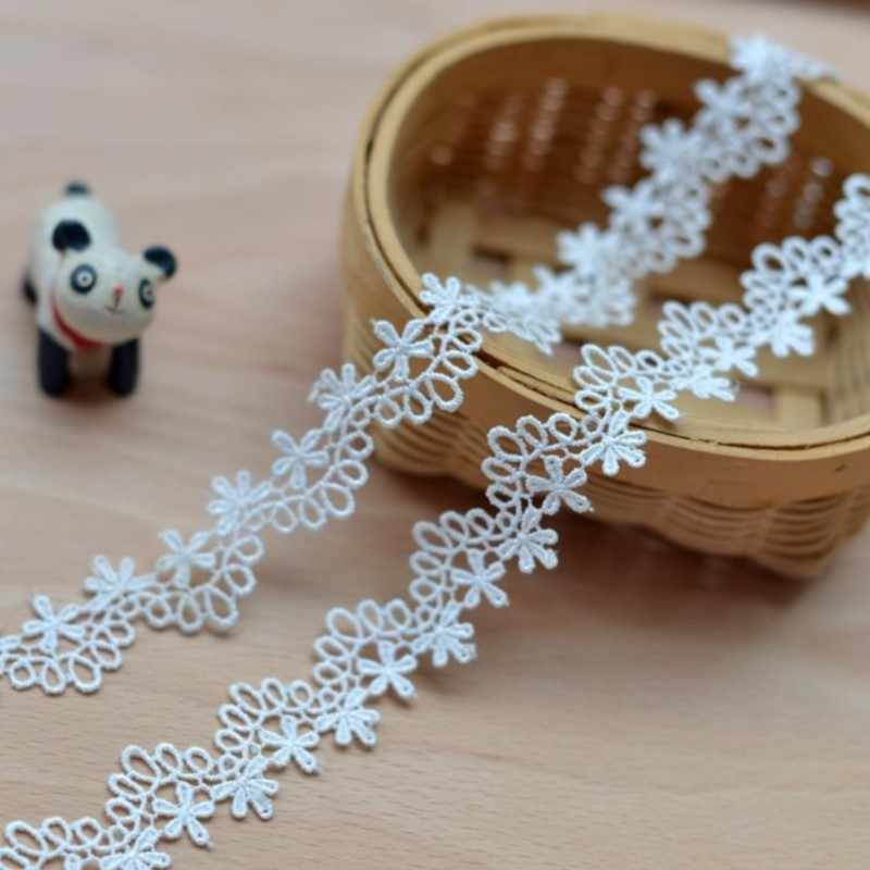 High-quality Milk white water soluble embroidered lace accessories diy lace clothing lace  2.3cm hot sale