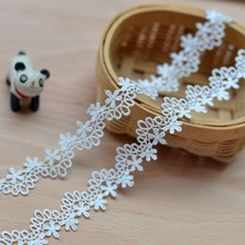 Milk white water soluble embroidered lace accessories diy clothing necklace can do wide 2.3cm
