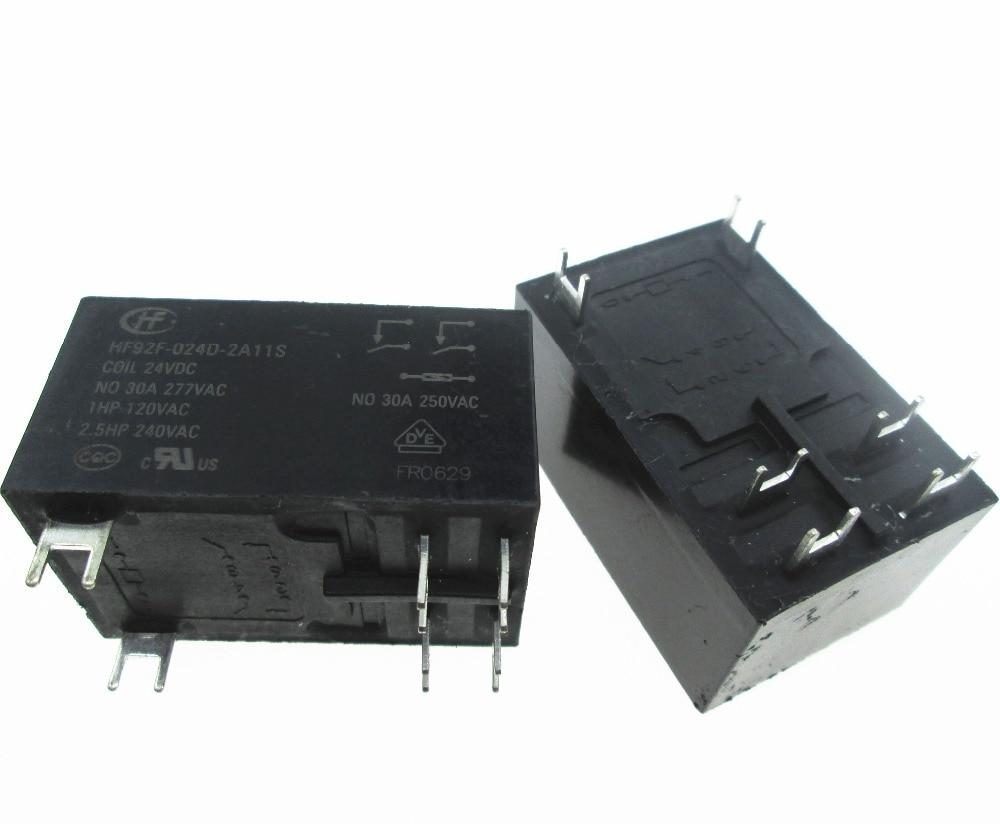 24V relay HF92F-024D-2A11S 24VDC HF92F-024D-2A11S-24VDC HF92F024D2A11S HF92F-2A11S 24VDC DC24V 24V  30A 277VAC 2pcs/lot24V relay HF92F-024D-2A11S 24VDC HF92F-024D-2A11S-24VDC HF92F024D2A11S HF92F-2A11S 24VDC DC24V 24V  30A 277VAC 2pcs/lot