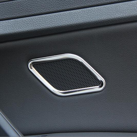 2 sztuk zestaw zmodyfikowana specjalna stal nierdzewna tylna klapka akustyka ramka dekoracyjna naklejka do Volkswagen GOLF 7 mk7 car styling tanie i dobre opinie Emaicoca 12cm Chrom stylizacja STAINLESS STEEL 0 06kg for GOLF 7 Iso9001 2014-2015 CMLB-7 0 1cm