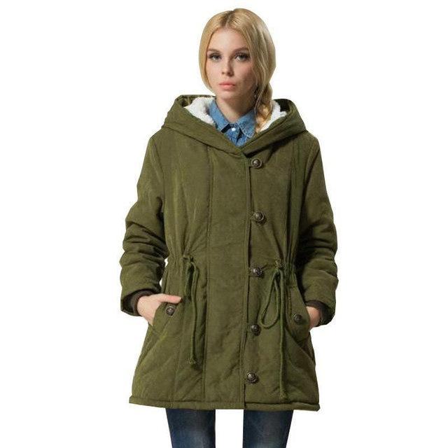 Hot Sale Plus Size Winer Coat Women Winter Jacket Cotton Padded Female Long Section Cashmere Coat Winter Jackets Parka 4XL C1612 1