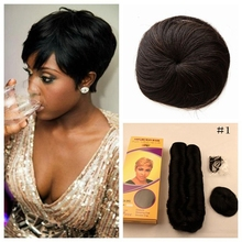 Hot Bob Brazilian Short Straight Hair Weave With Free Closure Virgin Human In Hair Short Bump Weave 27 Pieces Free Shipping
