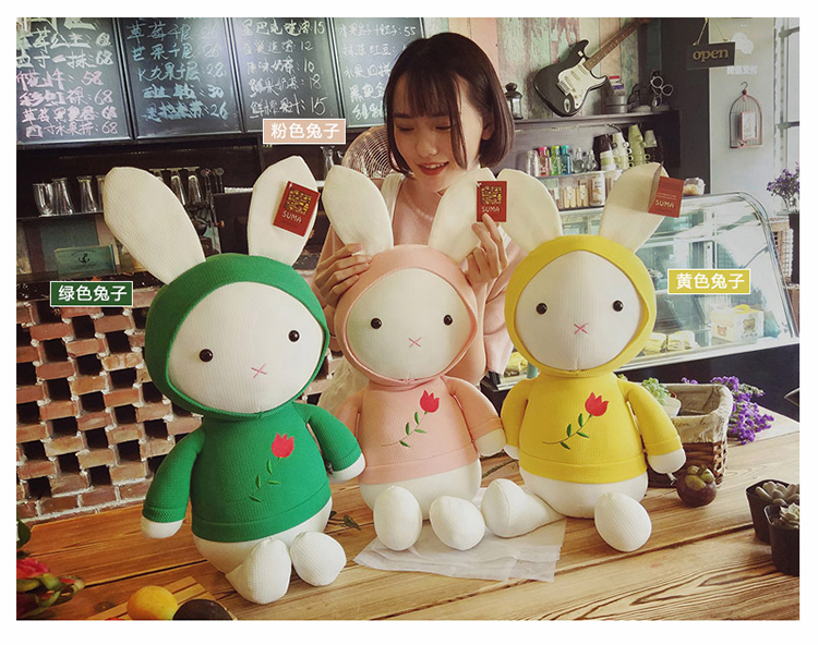 2018 New Rabbit Plush Toy Decoration Kid Gift Valentines Day Gift Staffed Animal PPT Cotton New Free Shipping A-67