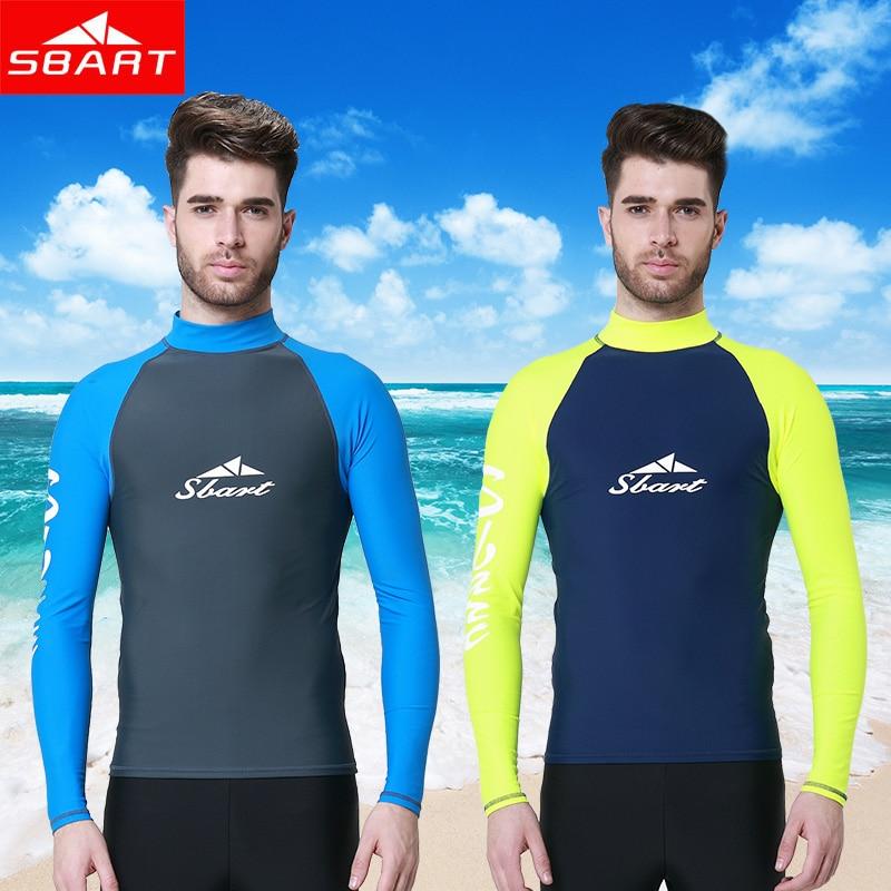 Sbart Mma Rashguard Swim Shirts Men Long Sleeve Lycra Top