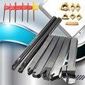 12mm 21 teile/satz Schaft Drehmaschine Drehen Werkzeug Halter Langweilig Bar + Insert + Wrench S12M-SCLCR06/SER1212H16/SCL1212H06