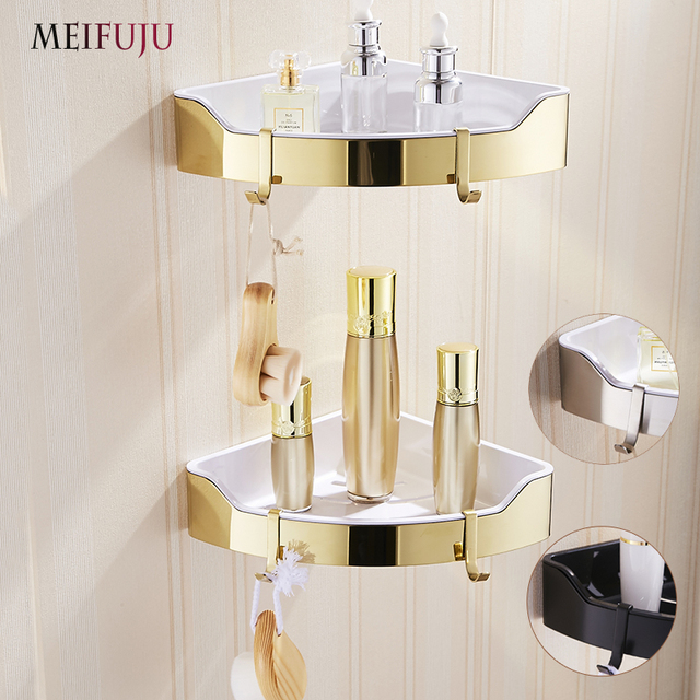 MEIFUJU Stainless Steel Bathroom Shelves 304 Black Bathroom Shelf ...