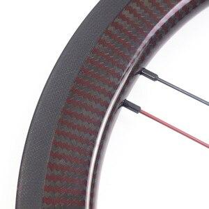 """Image 2 - Silverock عجلات الكربون 16 """"1 3/8"""" 349 ريم الفرامل 38 مللي متر الفاصلة 1 3S ل Brompton 3 ستين للطي دراجة مخصصة دراجة العجلات"""