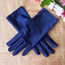 Hot Sale Evening Party  Formal Prom Stretch Satin Gloves  Wo