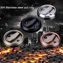 Myhomera Stainless Steel 304 Recessed Invisible Cup Hidden Door Handles Cabinet Pulls Fire Proof Disk round ring hot 10pcs stainless steel recessed invisible cup handle privacy hidden door locks cabinet pulls handle fire proof disk ring lock