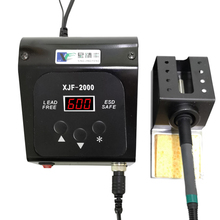 XJF2000 90W DC Digital Lead-free Soldering Station High Frequency Eddy Current Temperature Adjustable quick 90w intelligent high frequency bga rework soldering station 203h