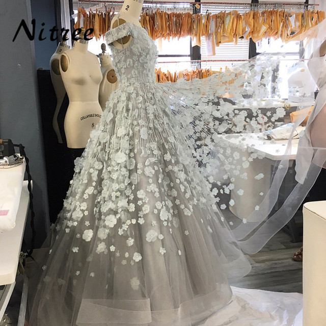 Moroccan Kaftan 2018 Ball Gown Formal Evening Dresses African Dubai Turkish  Arabic 3D Flowers Long Prom Party Gowns Abendkleider 499b66a22c2f